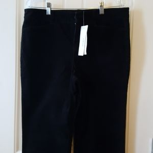 NWT Corduroy Pants Jones New York Black (10)